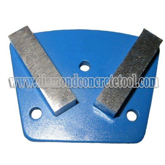 Double Segment Bars Trapezoid Concrete Grinding Plate