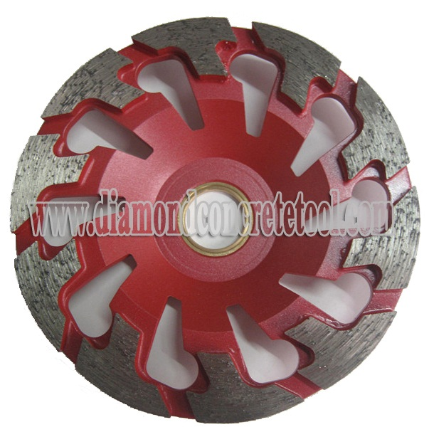 T Segment Diamond Concrete Cup Wheels