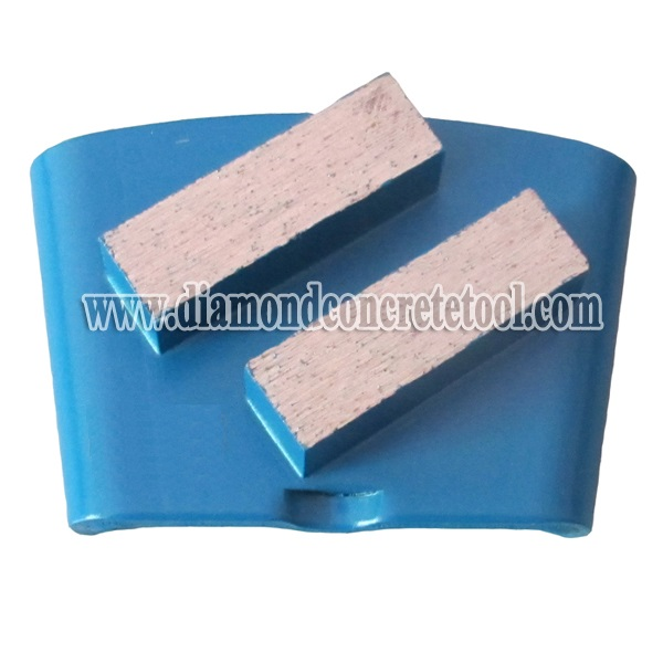 2 Square Segments Concrete Grinding Plate for EZ Change HTC System